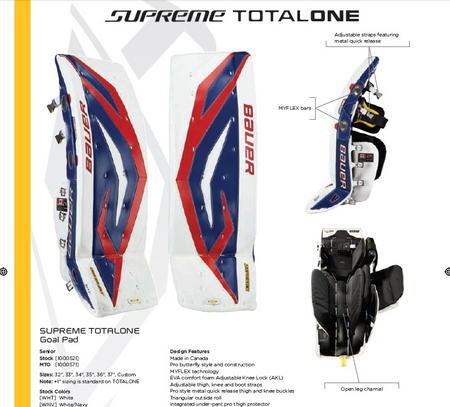 Bauer Supreme Total One Customizable Goal Pad – Hockey World Blog
