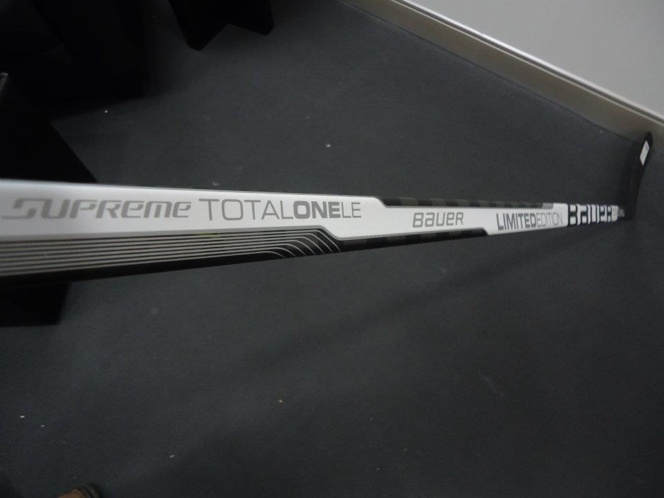 White Total One LE Hockey Stick