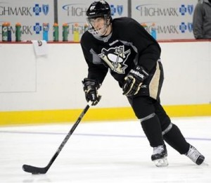 Sidney Crosby skated in practice Monday and is expected to play in the first round against New York. (AP Photo)