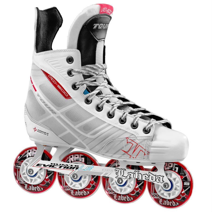 tour fish bonelite 500 white roller hockey skates hockey. Black Bedroom Furniture Sets. Home Design Ideas