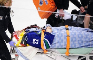 Daniel Sedin Stretcher