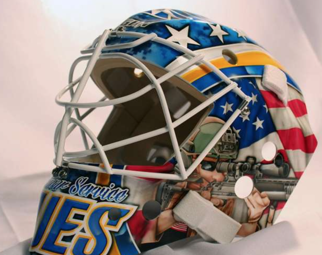 Brian Elliott Veterans Day Goalie Mask
