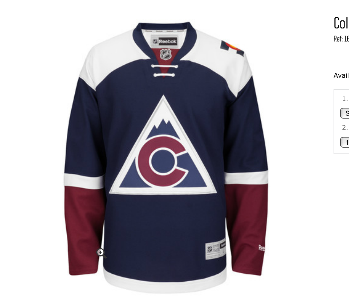Colorado Avalanche 3rd Jersey for 2015-16