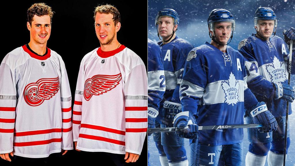 Red Wings and Maple Leafs Centennial Classic Jerseys