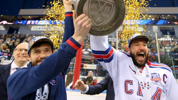 Pavel Datsyuk Ilya Kovalchuk Gagarin Cup