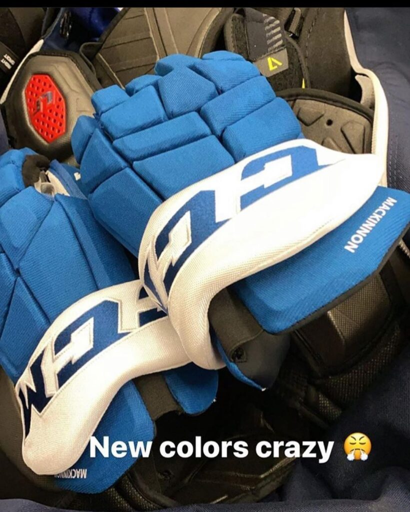 Nathan MacKinnon CCM Colorado Avalanche Fourth Jersey Gloves