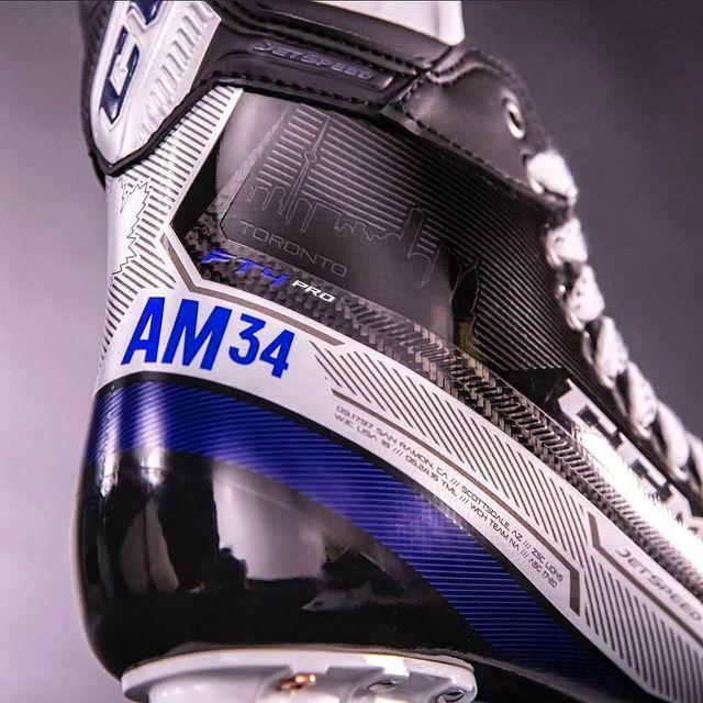 Auston Matthews Custom CCM Jetspeed FT4 Pro Skates