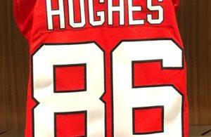 Jack Hughes Devils Jersey 86