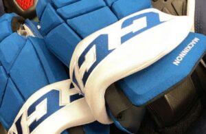 Nathan MacKinnon CCM Colorado Avalanche Fourth Jersey Gloves